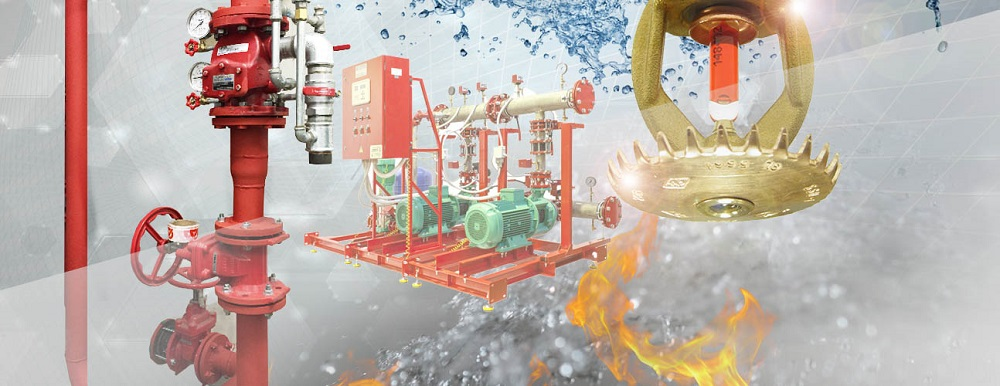 Монтаж системы водяного пожаротушения